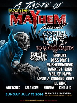 A Taste Of Mayhem: Cannibal Corpse & Ill Nino at Fillmore Auditorium