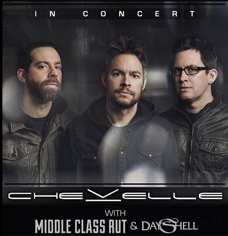 Chevelle, Middle Class Rut & Dayshell at Fillmore Auditorium