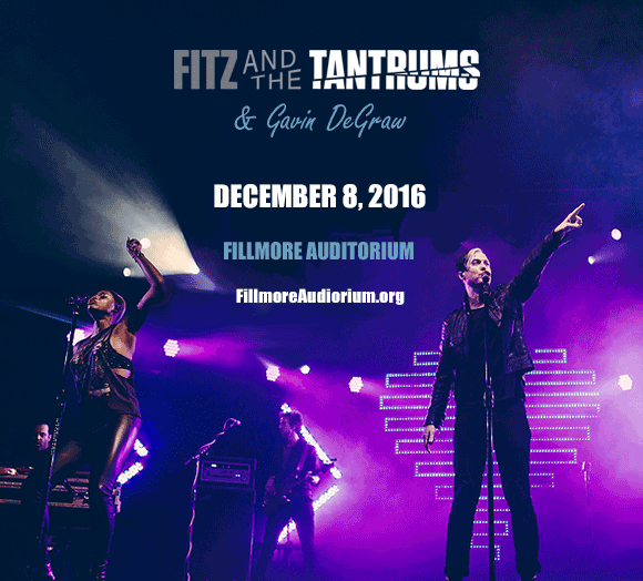 Fitz and the Tantrums & Gavin DeGraw at Fillmore Auditorium