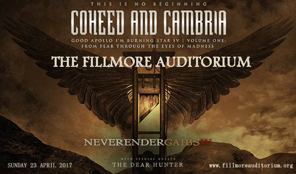 Coheed and Cambria at Fillmore Auditorium