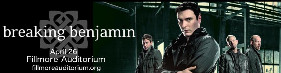 Breaking Benjamin at Fillmore Auditorium