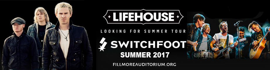 Lifehouse & Switchfoot at Fillmore Auditorium