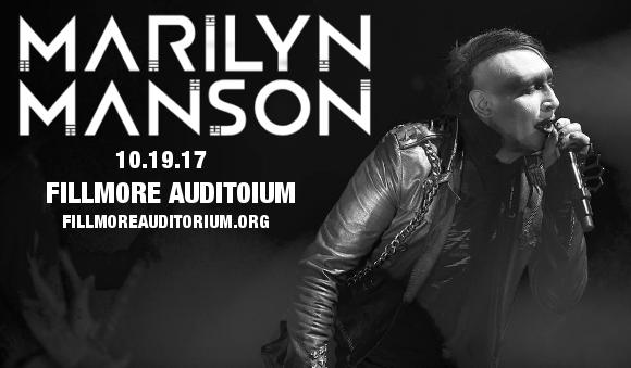 Marilyn Manson at Fillmore Auditorium