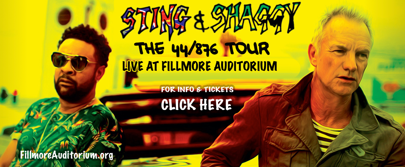 Sting & Shaggy at Fillmore Auditorium