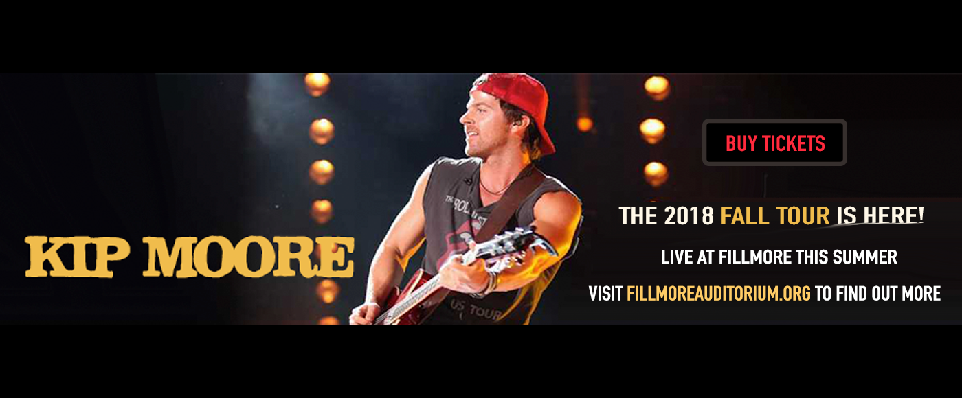 Kip Moore at Fillmore Auditorium