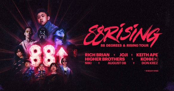 88 Degrees & Rising Tour: Rich Brian, Joji, Keith Ape & Higher Brothers at Fillmore Auditorium