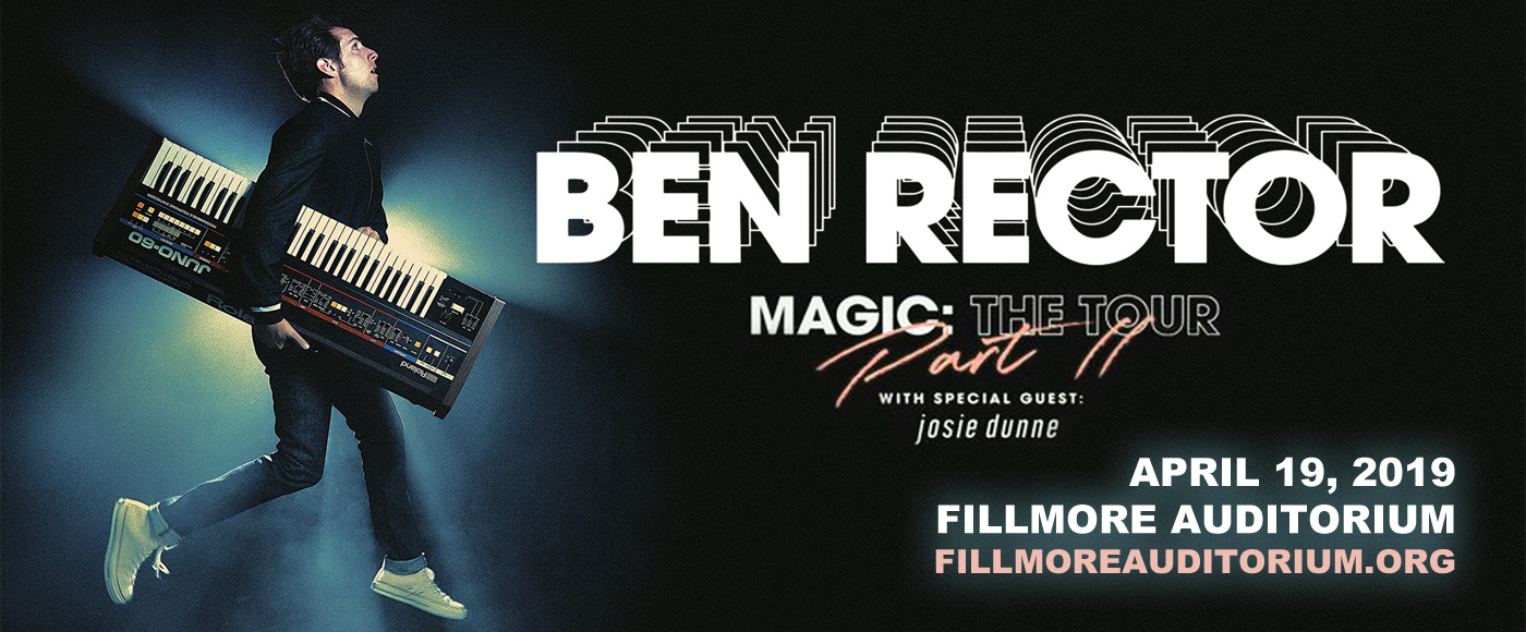 Ben Rector at Fillmore Auditorium