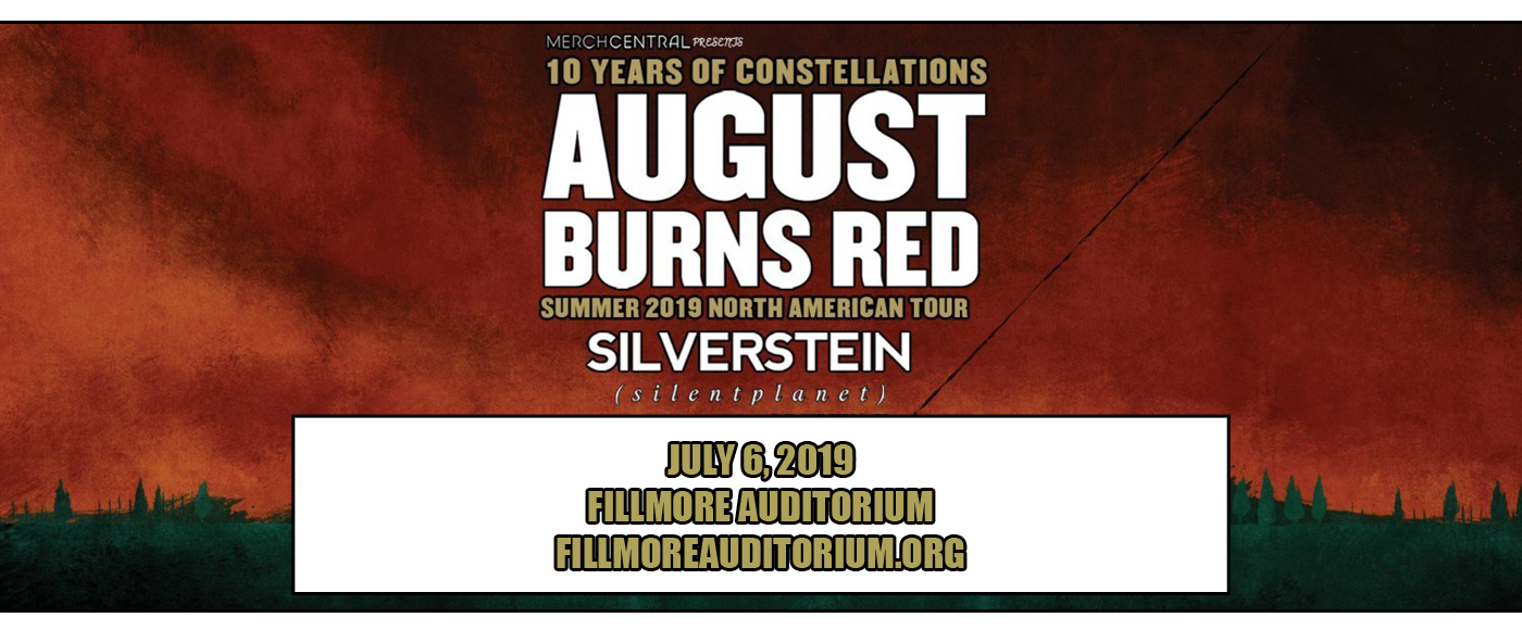 August Burns Red at Fillmore Auditorium