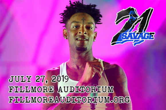 21 Savage at Fillmore Auditorium