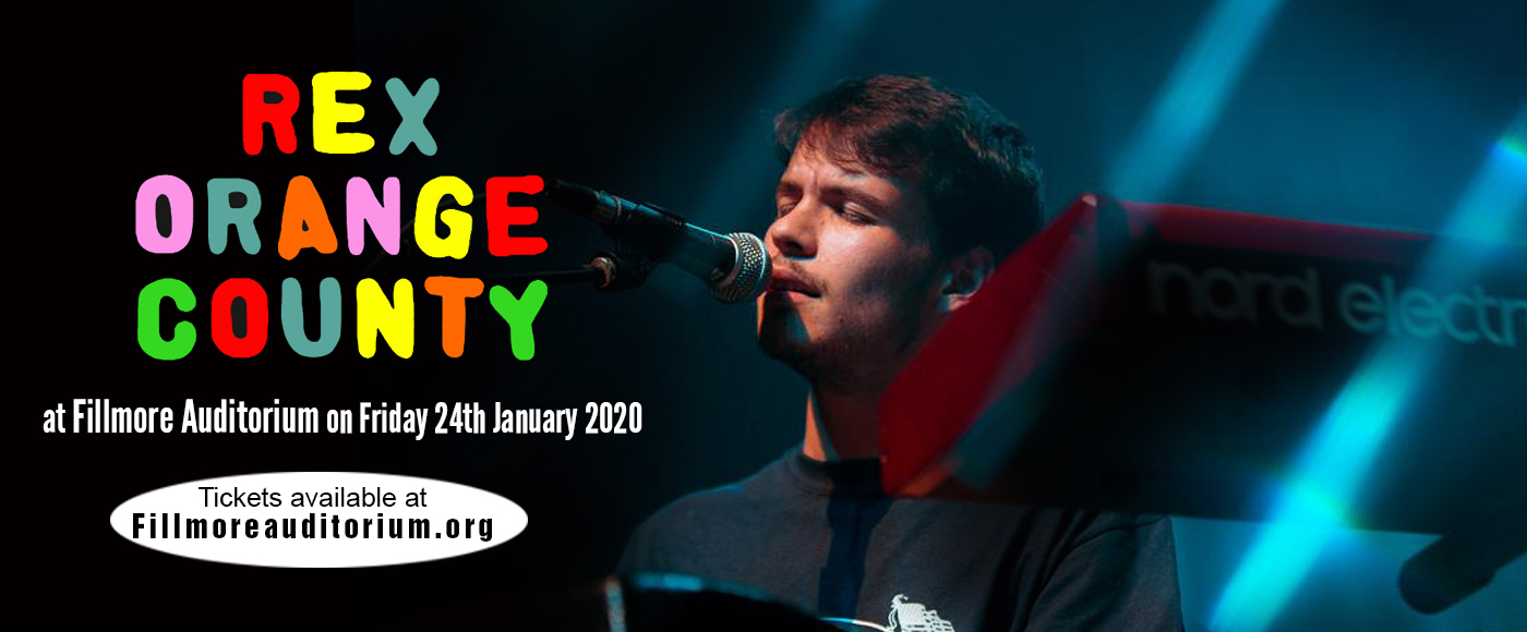 Rex Orange County at Fillmore Auditorium
