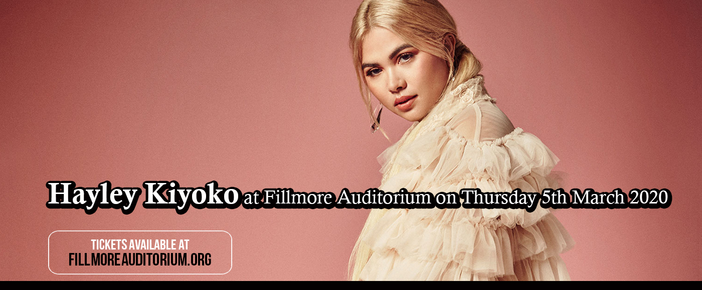Hayley Kiyoko at Fillmore Auditorium