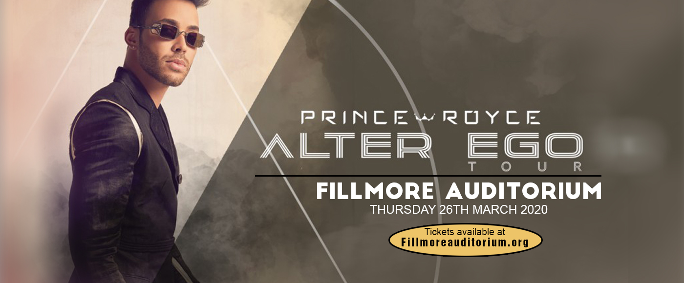 Prince Royce at Fillmore Auditorium