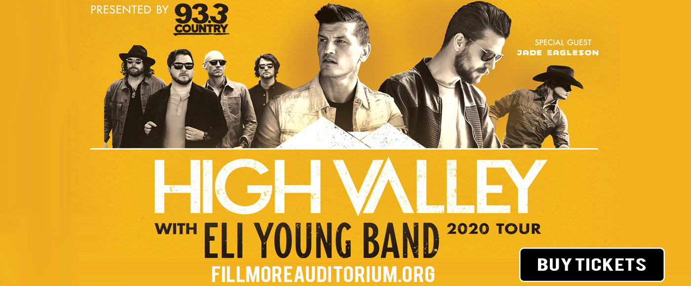 High Valley & Eli Young Band at Fillmore Auditorium