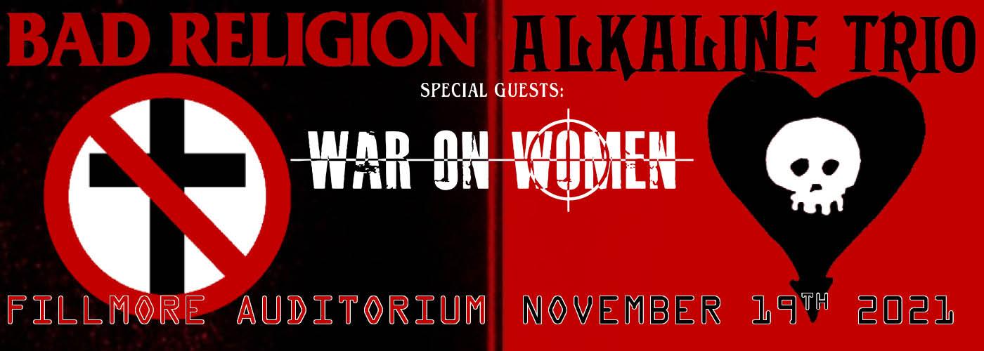 Bad Religion & Alkaline Trio at Fillmore Auditorium