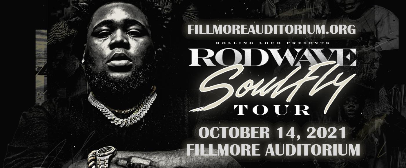 Rod Wave at Fillmore Auditorium