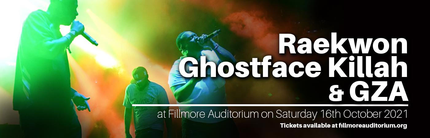 Raekwon, Ghostface Killah & GZA at Fillmore Auditorium