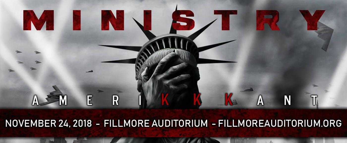 Ministry at Fillmore Auditorium