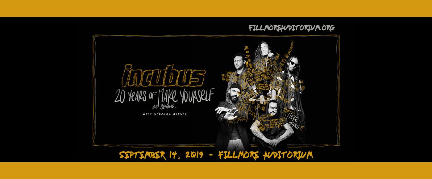 Incubus at Fillmore Auditorium