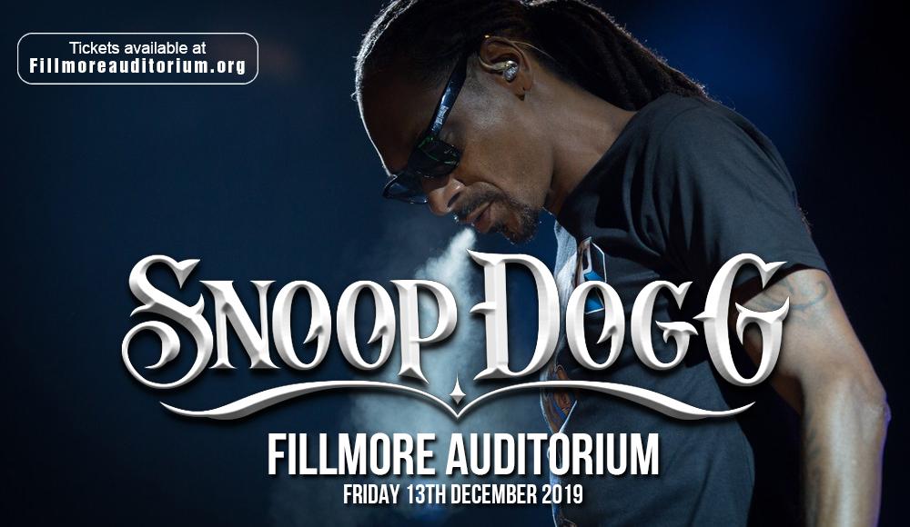 Snoop Dogg at Fillmore Auditorium