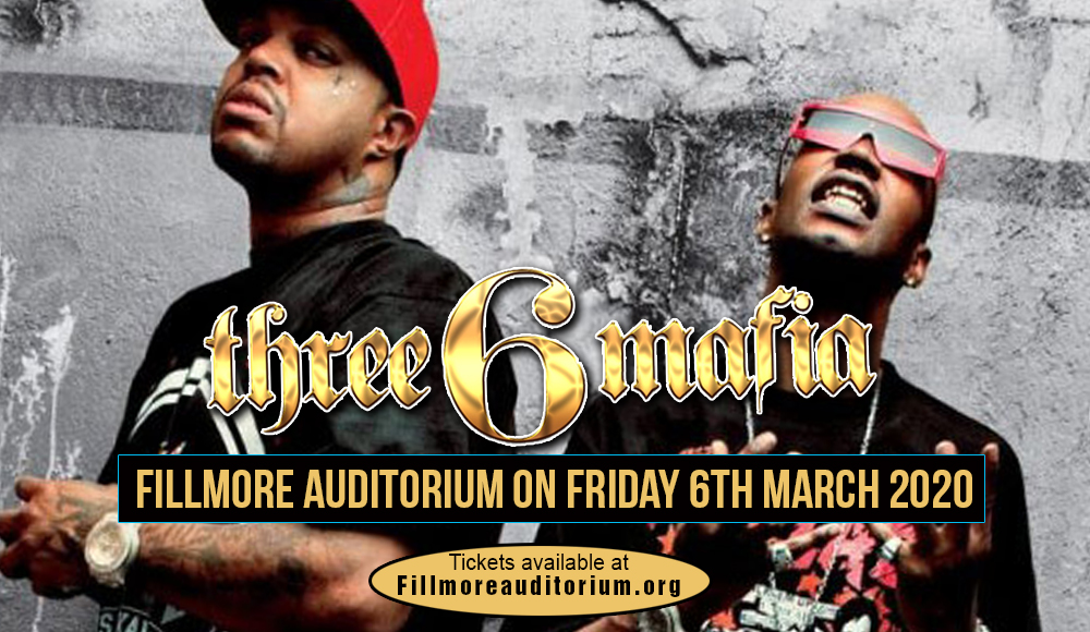 Three 6 Mafia at Fillmore Auditorium