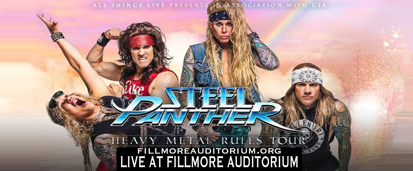 Steel Panther [CANCELLED] at Fillmore Auditorium