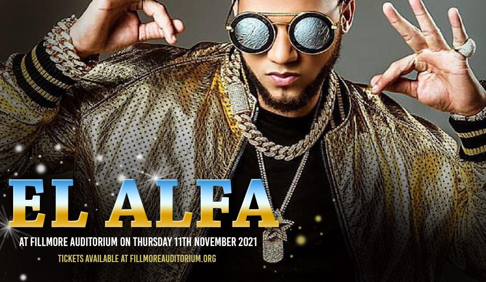 El Alfa [POSTPONED] at Fillmore Auditorium
